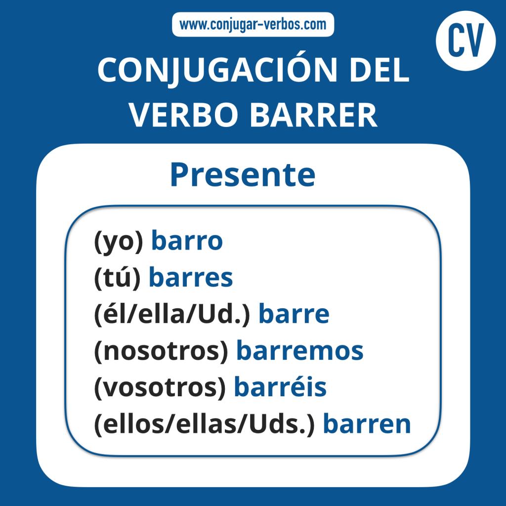 Conjugacion del verbo barrer | Conjugacion barrer