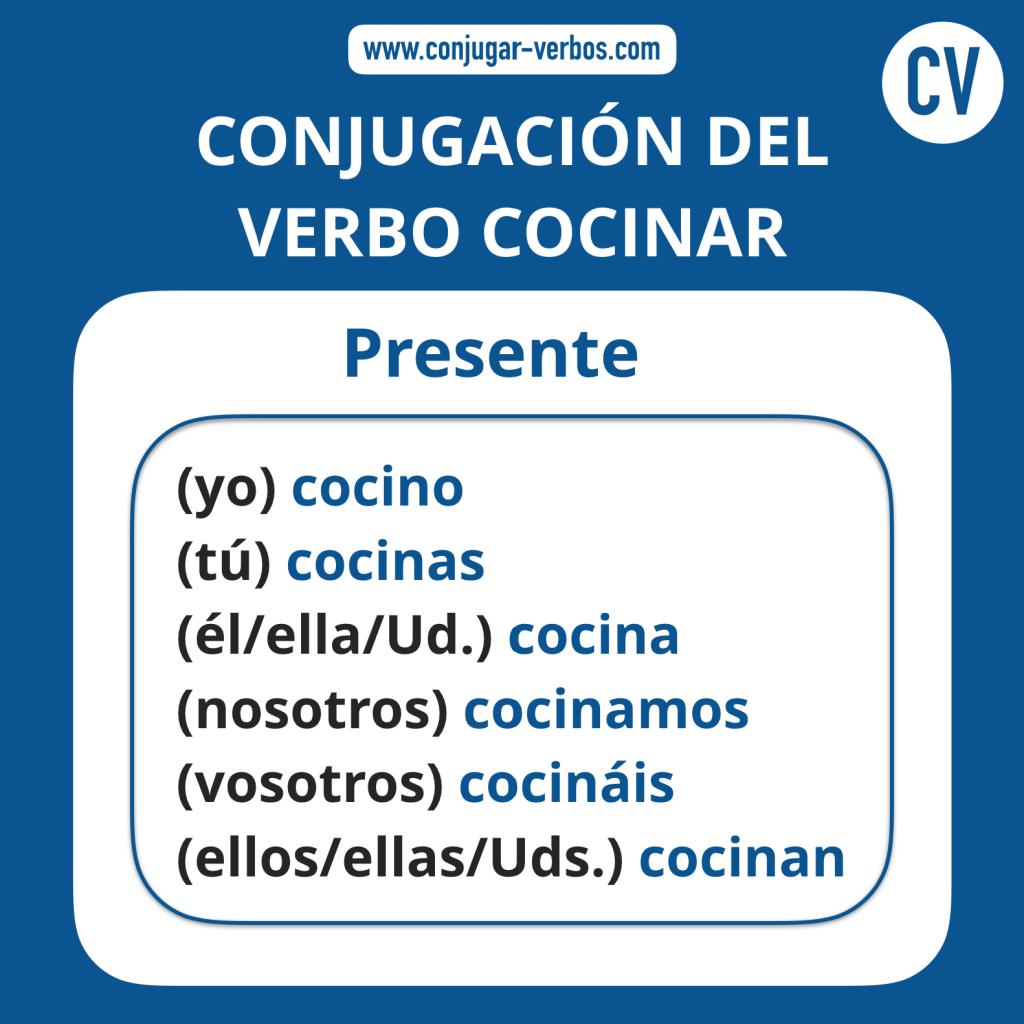 Conjugacion del verbo cocinar | Conjugacion cocinar