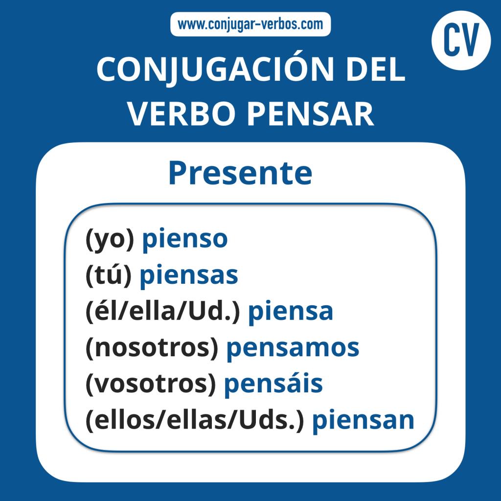 Conjugacion del verbo pensar | Conjugacion pensar