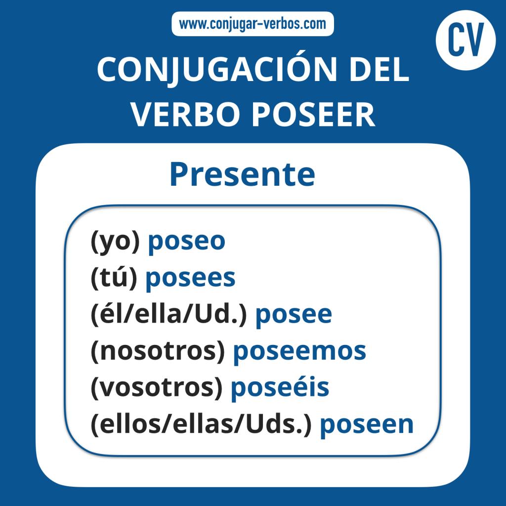Conjugacion del verbo poseer   Conjugacion poseer