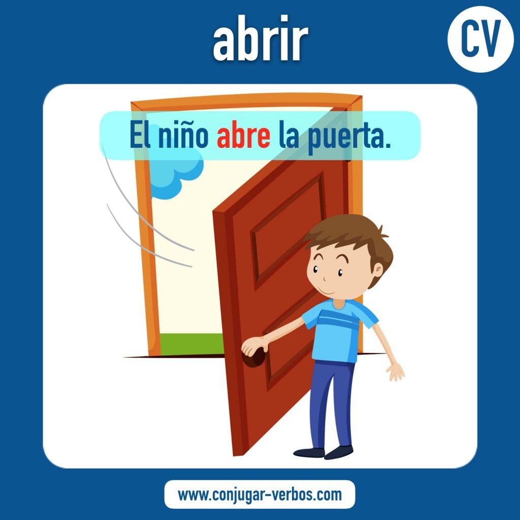 verbo abrir | abrir | imagen del verbo abrir | conjugacion del verbo abrir