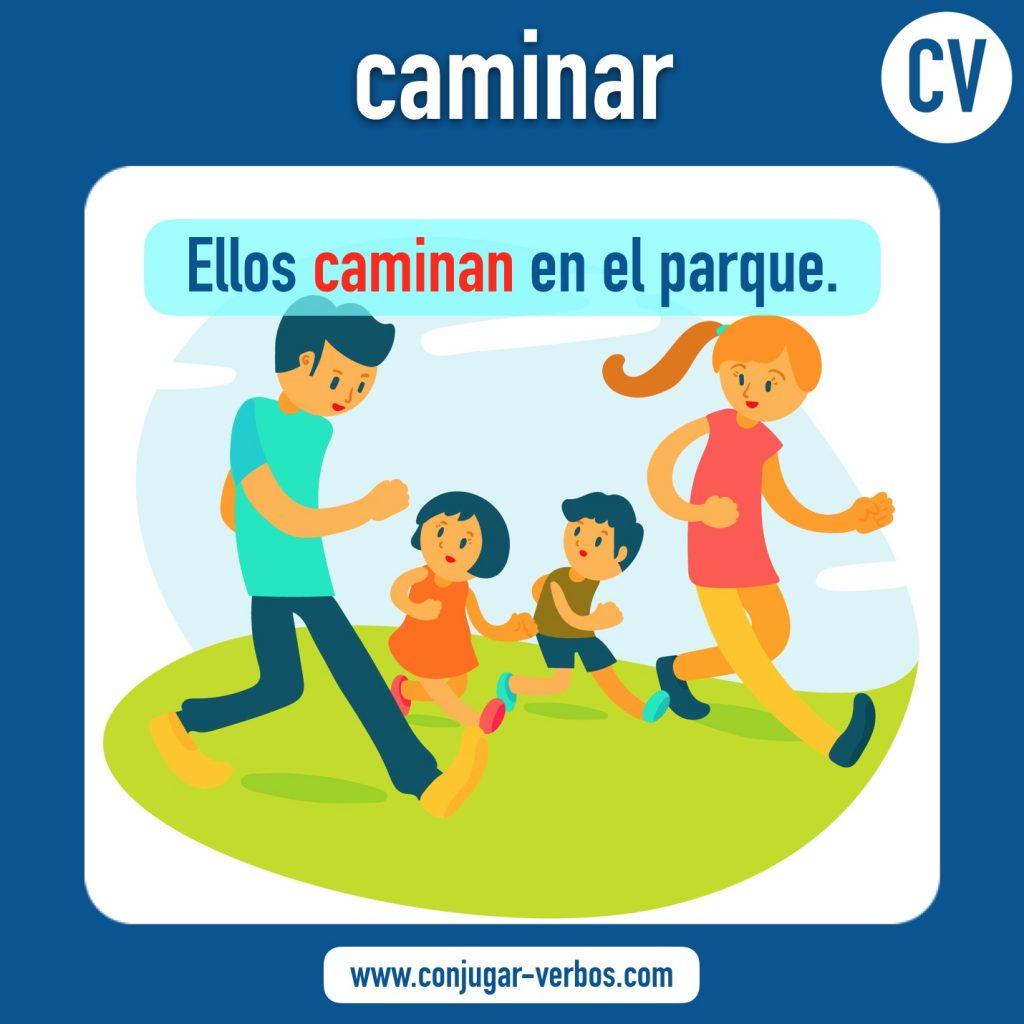 verbo caminar | caminar | imagen del verbo caminar | conjugacion del verbo caminar