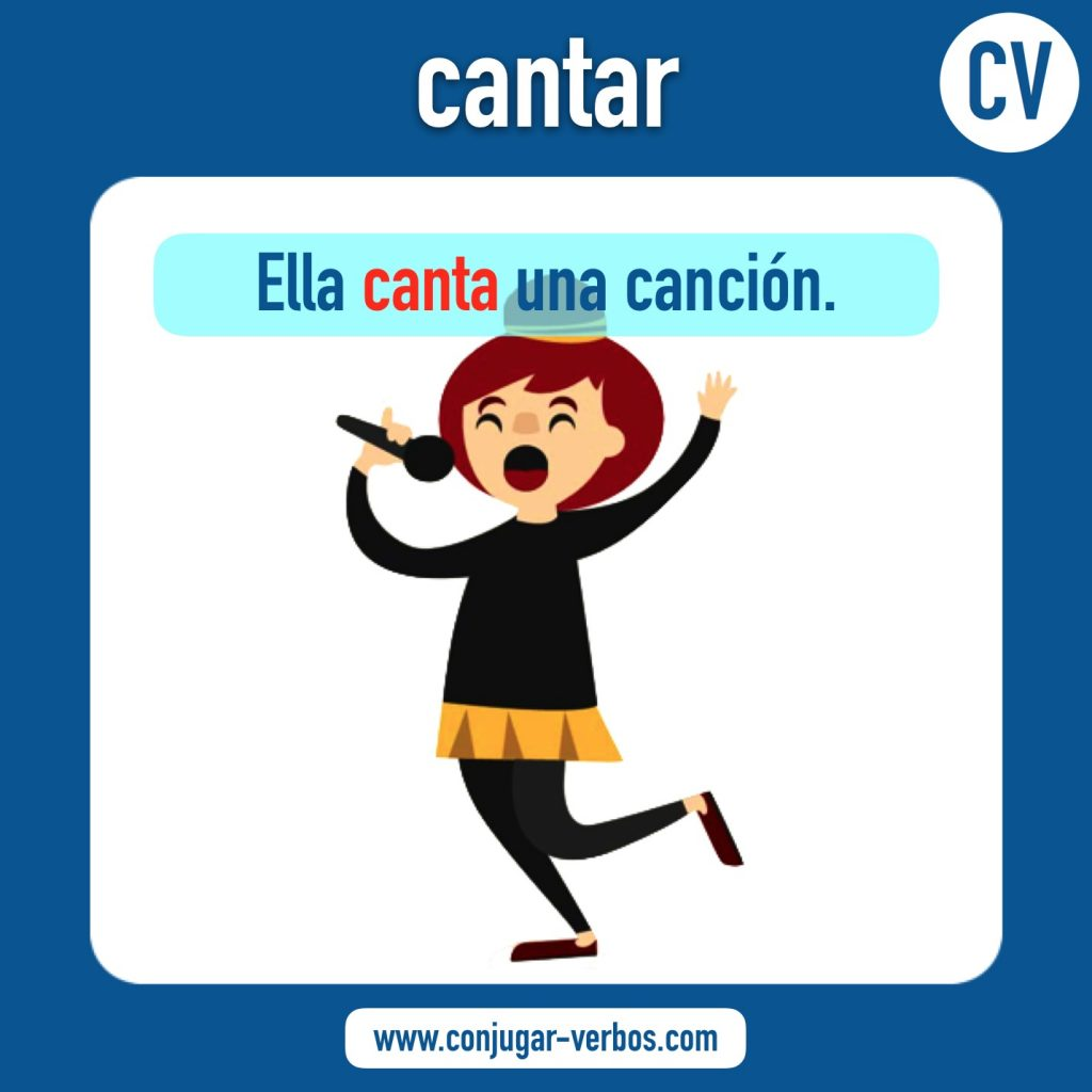 verbo cantar | cantar | imagen del verbo cantar | conjugacion del verbo cantar