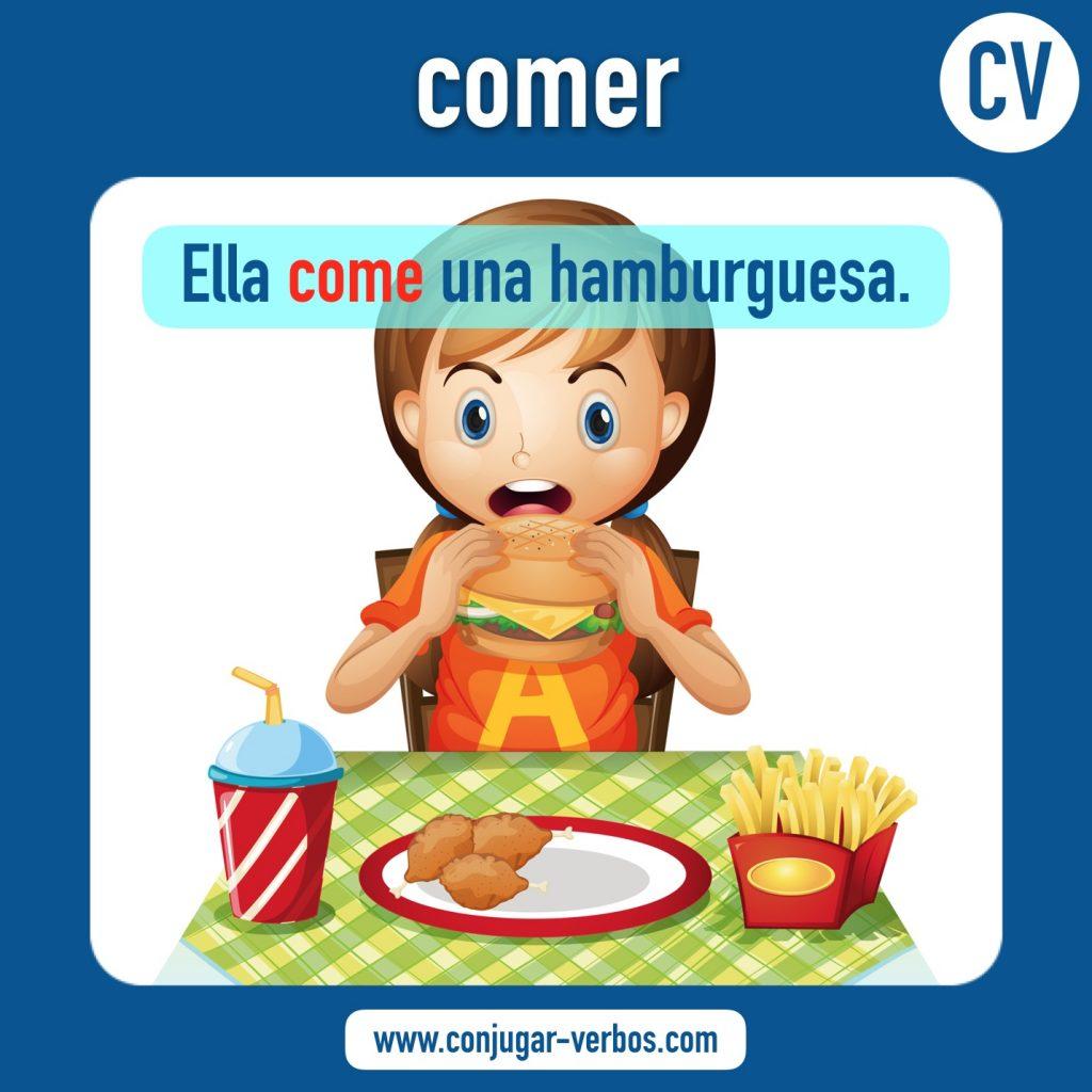 verbo comer | comer | imagen del verbo comer | conjugacion del verbo comer