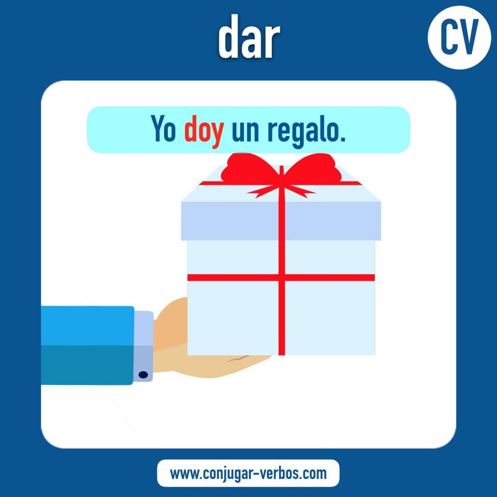 verbo dar | dar | imagen del verbo dar | conjugacion del verbo dar