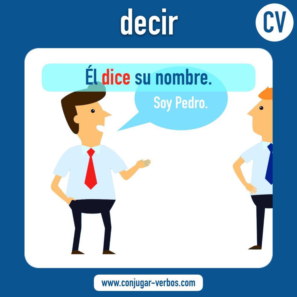 verbo decir | decir | imagen del verbo decir | conjugacion del verbo decir