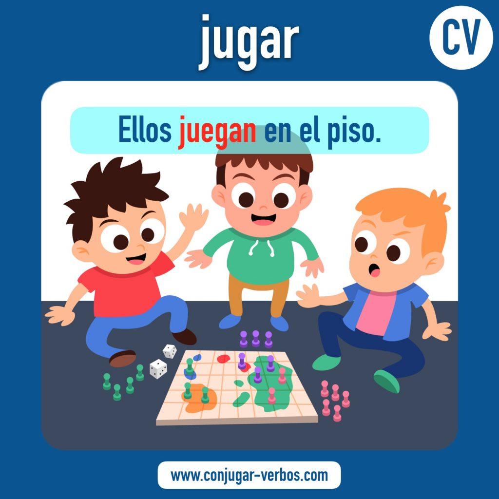 verbo jugar | jugar | imagen del verbo jugar | conjugacion del verbo jugar