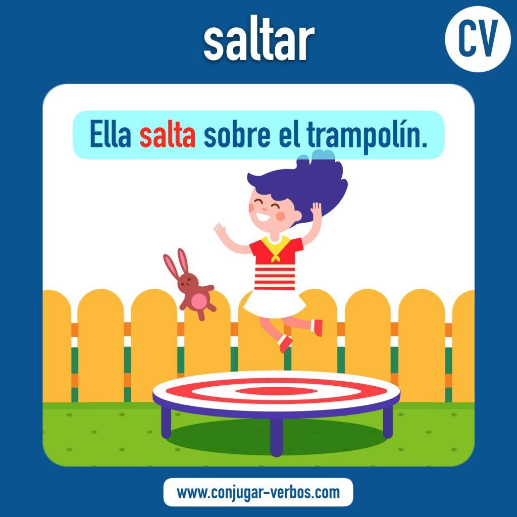 verbo saltar | saltar | imagen del verbo saltar | conjugacion del verbo saltar