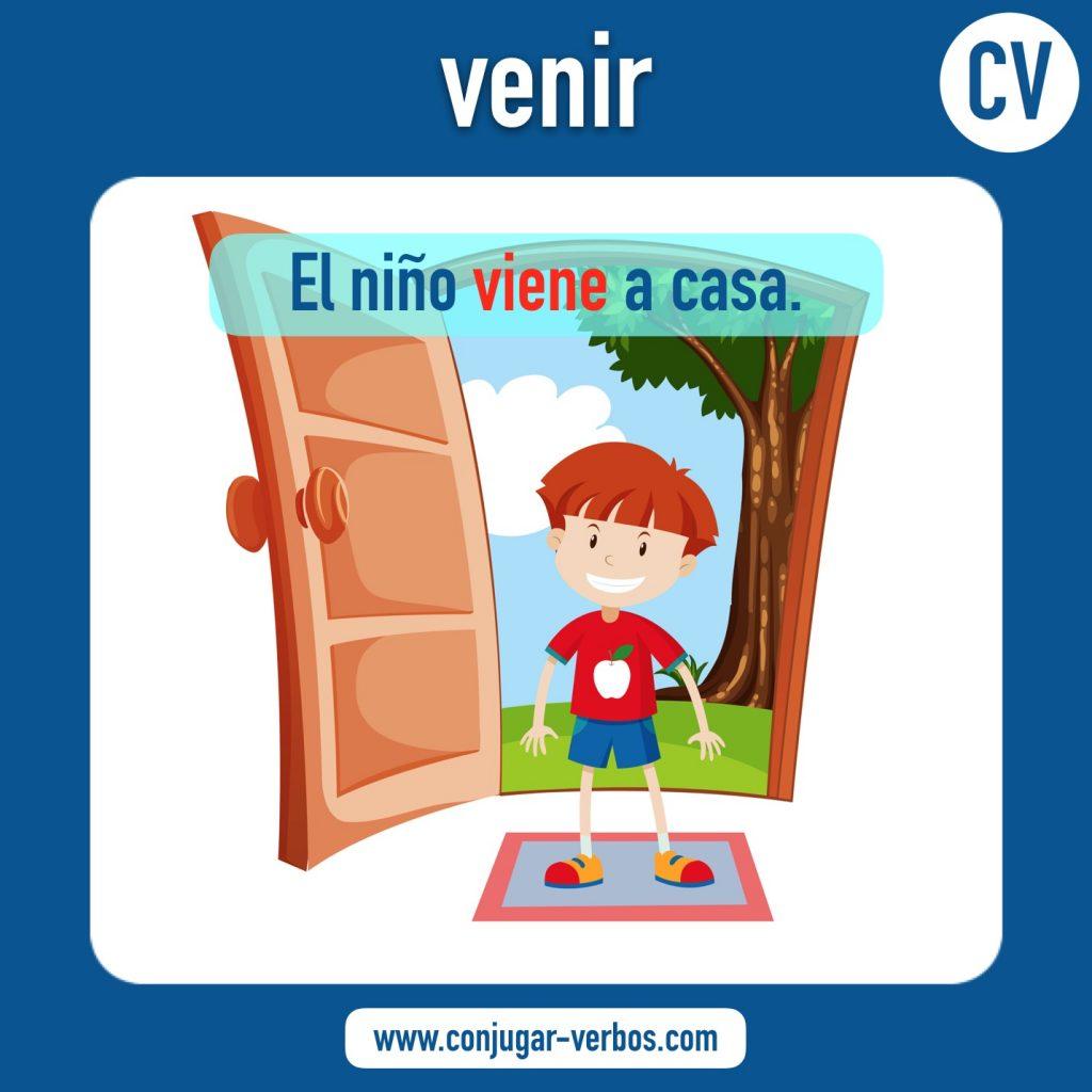 verbo venir | venir | imagen del verbo venir | conjugacion del verbo venir