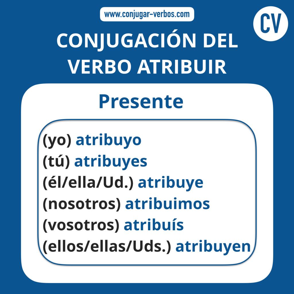 Conjugacion del verbo atribuir | Conjugacion atribuir