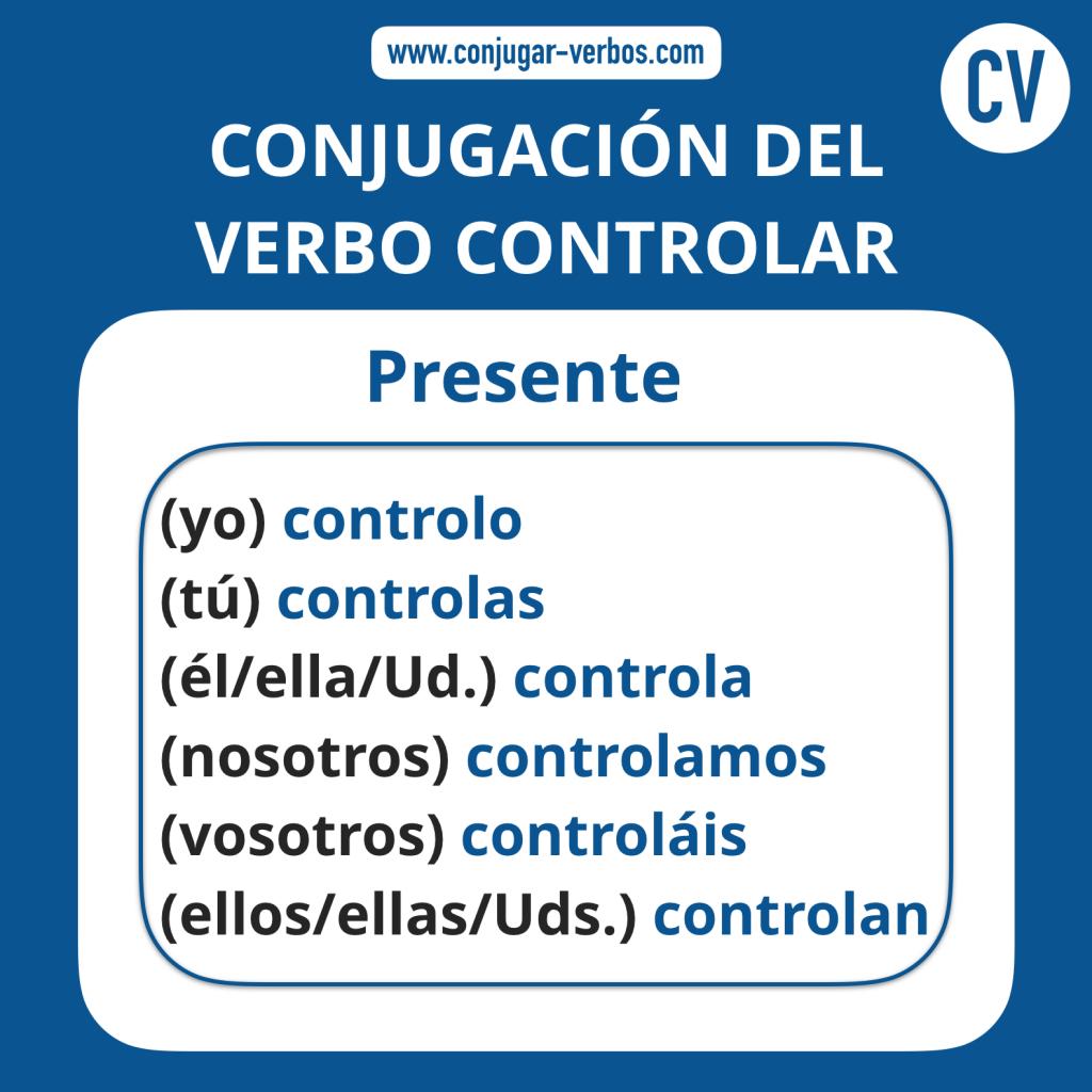 Conjugacion del verbo controlar | Conjugacion controlar