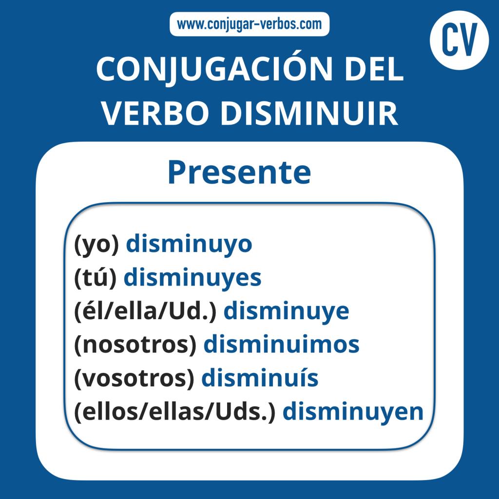 Conjugacion del verbo disminuir | Conjugacion disminuir