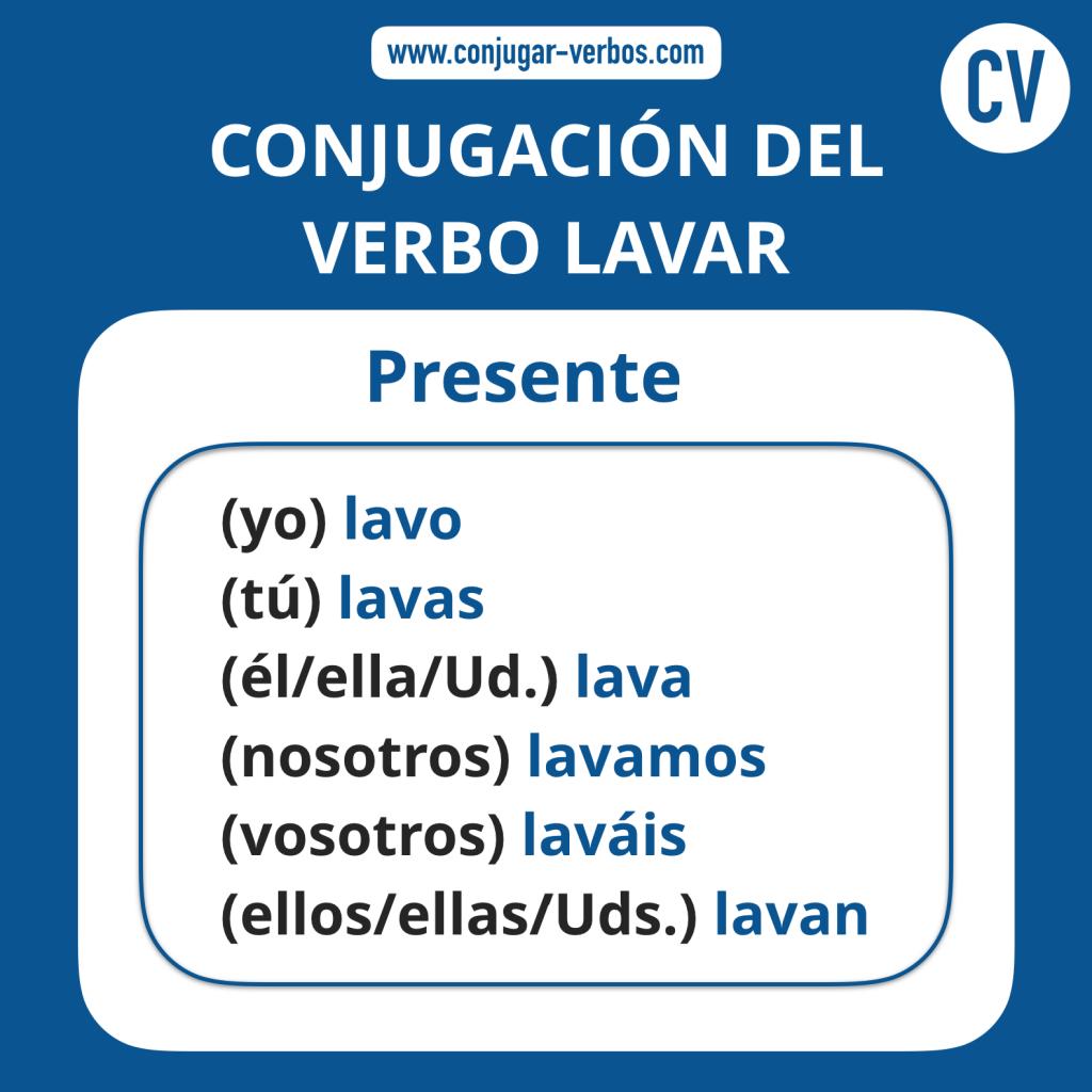 Conjugacion del verbo lavar | Conjugacion lavar