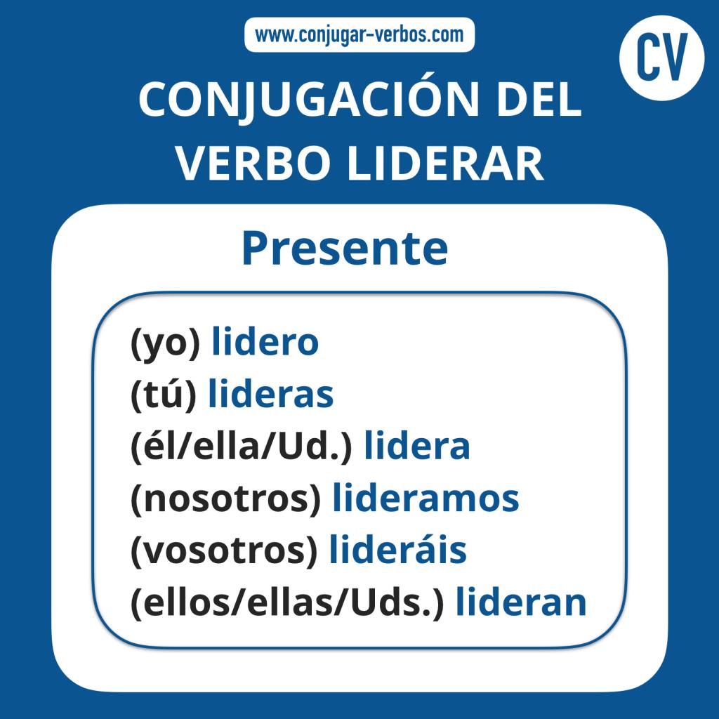 Conjugacion del verbo liderar   Conjugacion liderar