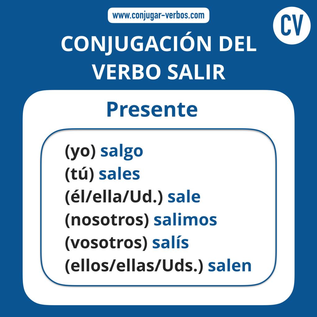Conjugacion del verbo salir | Conjugacion salir