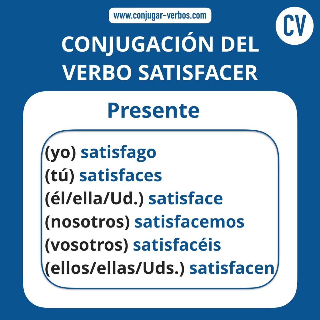 Conjugacion del verbo satisfacer | Conjugacion satisfacer