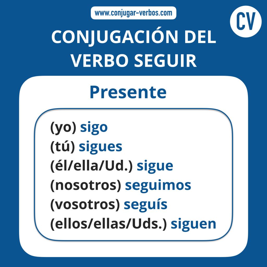 Conjugacion del verbo seguir | Conjugacion seguir