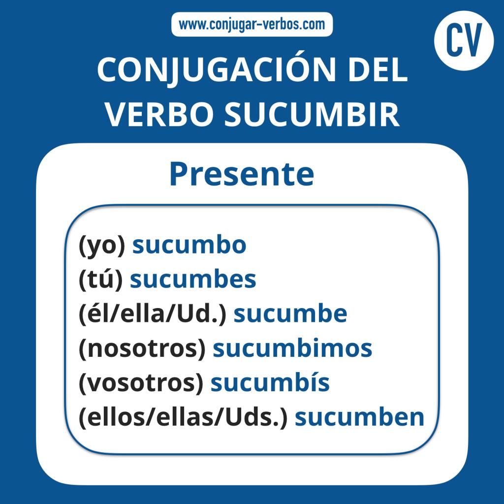 Conjugacion del verbo sucumbir | Conjugacion sucumbir