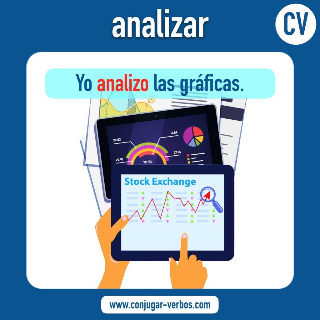 verbo analizar | analizar | imagen del verbo analizar | conjugacion del verbo analizar