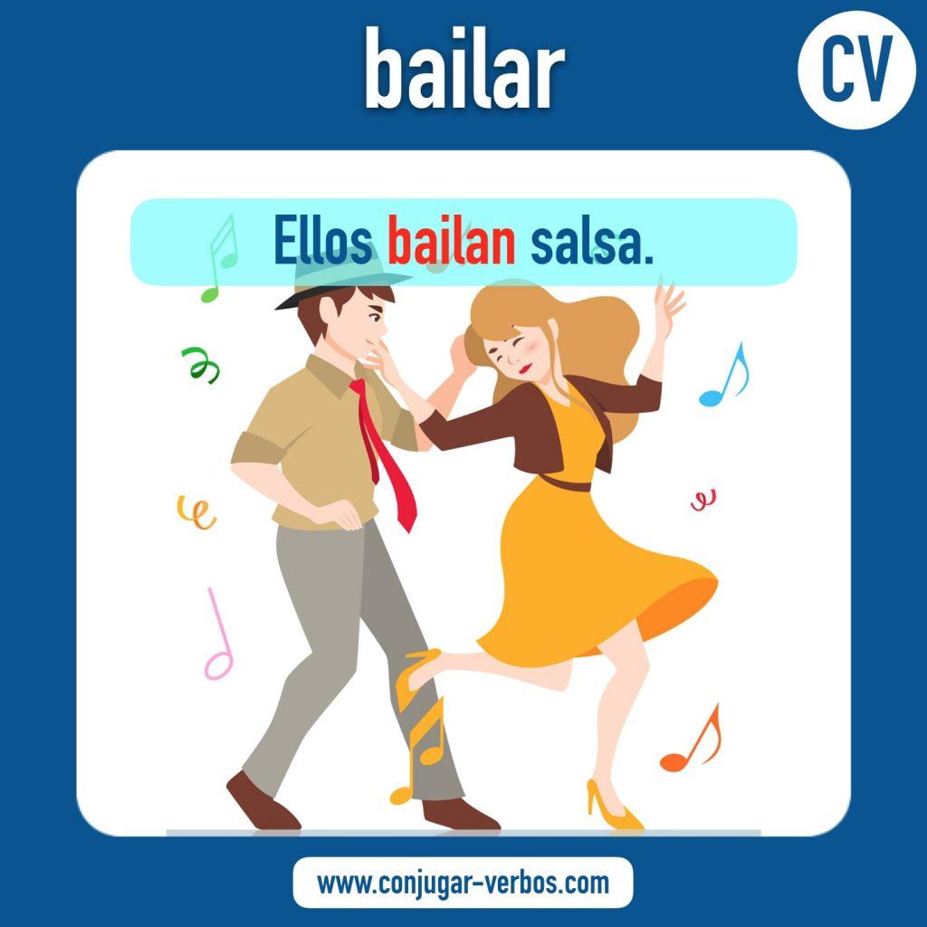 verbo bailar | bailar | imagen del verbo bailar | conjugacion del verbo bailar