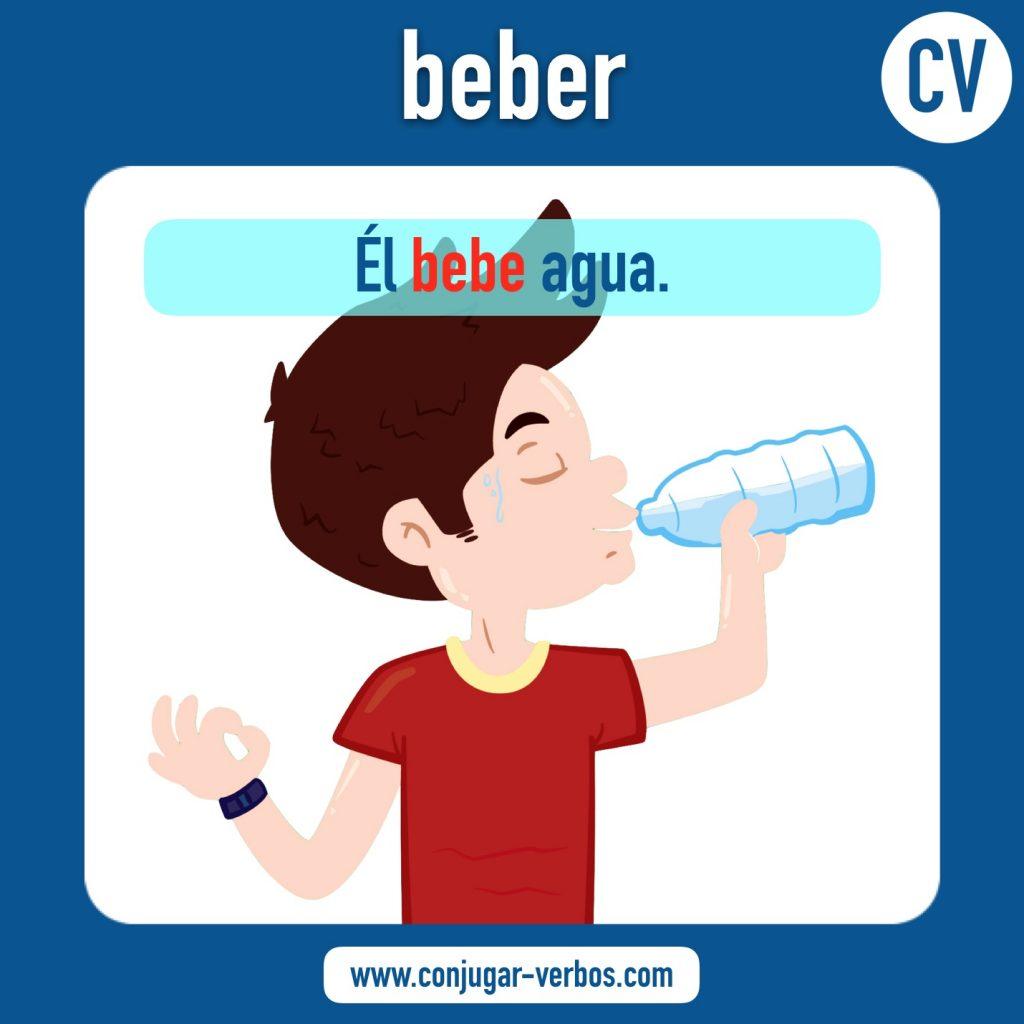 verbo beber   beber   imagen del verbo beber   conjugacion del verbo beber