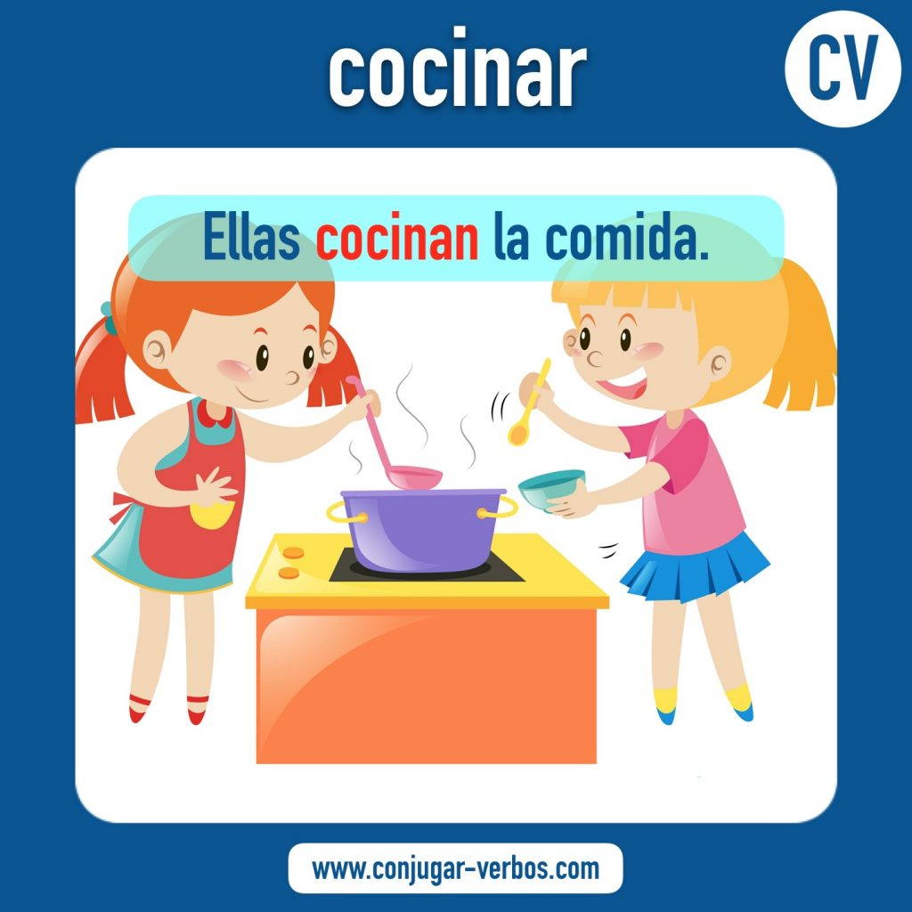 verbo cocinar | cocinar | imagen del verbo cocinar | conjugacion del verbo cocinar