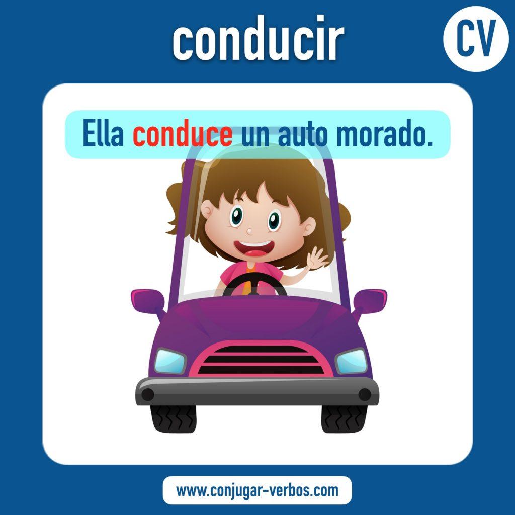verbo conducir | conducir | imagen del verbo conducir | conjugacion del verbo conducir