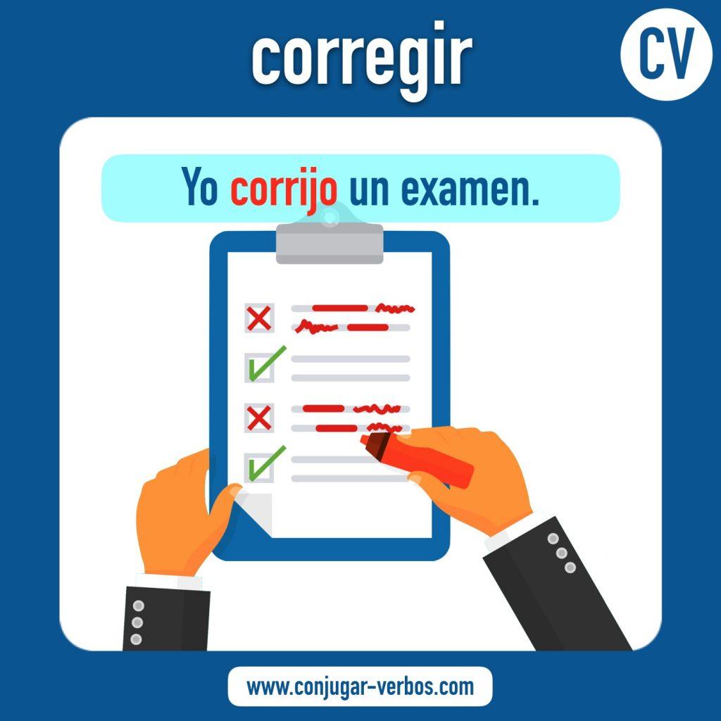 verbo corregir | corregir | imagen del verbo corregir | conjugacion del verbo corregir