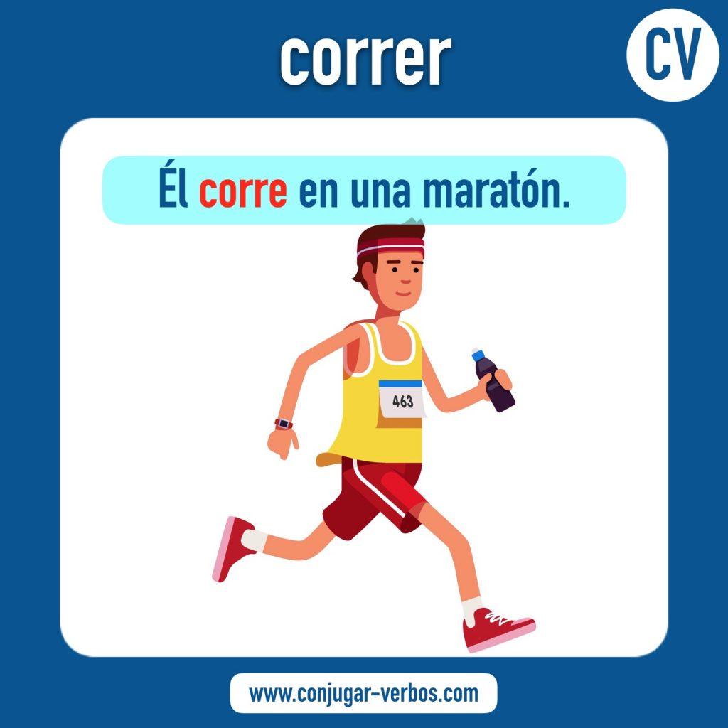 verbo correr | correr | imagen del verbo correr | conjugacion del verbo correr