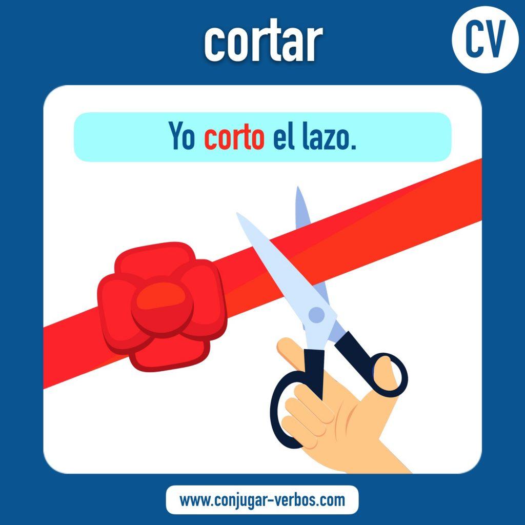 verbo cortar | cortar | imagen del verbo cortar | conjugacion del verbo cortar