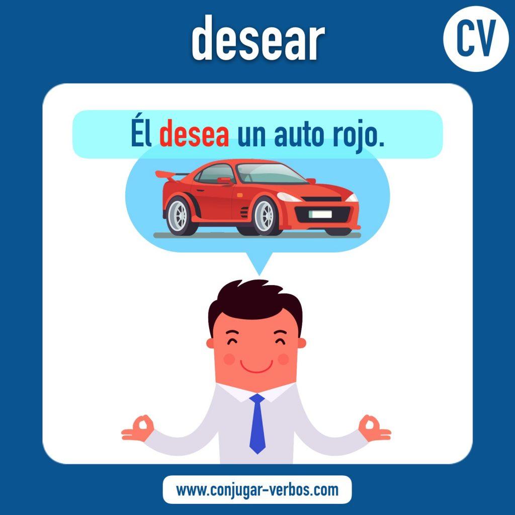verbo desear | desear | imagen del verbo desear | conjugacion del verbo desear