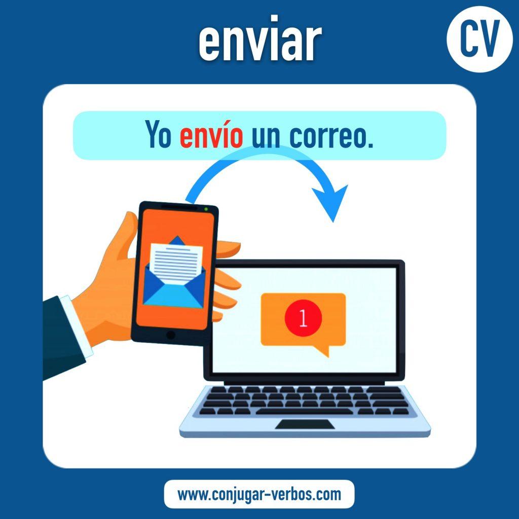 verbo enviar | enviar | imagen del verbo enviar | conjugacion del verbo enviar