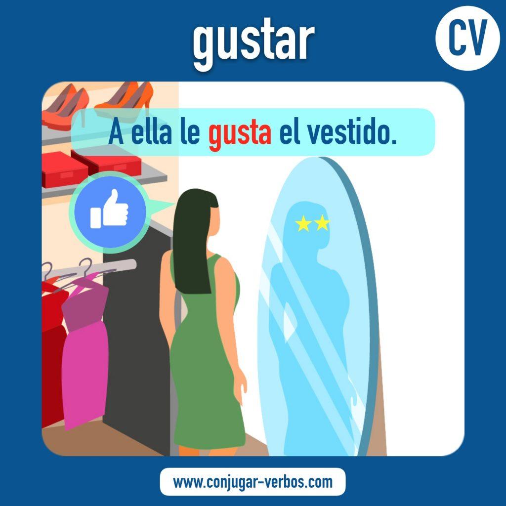 verbo gustar | gustar | imagen del verbo gustar | conjugacion del verbo gustar