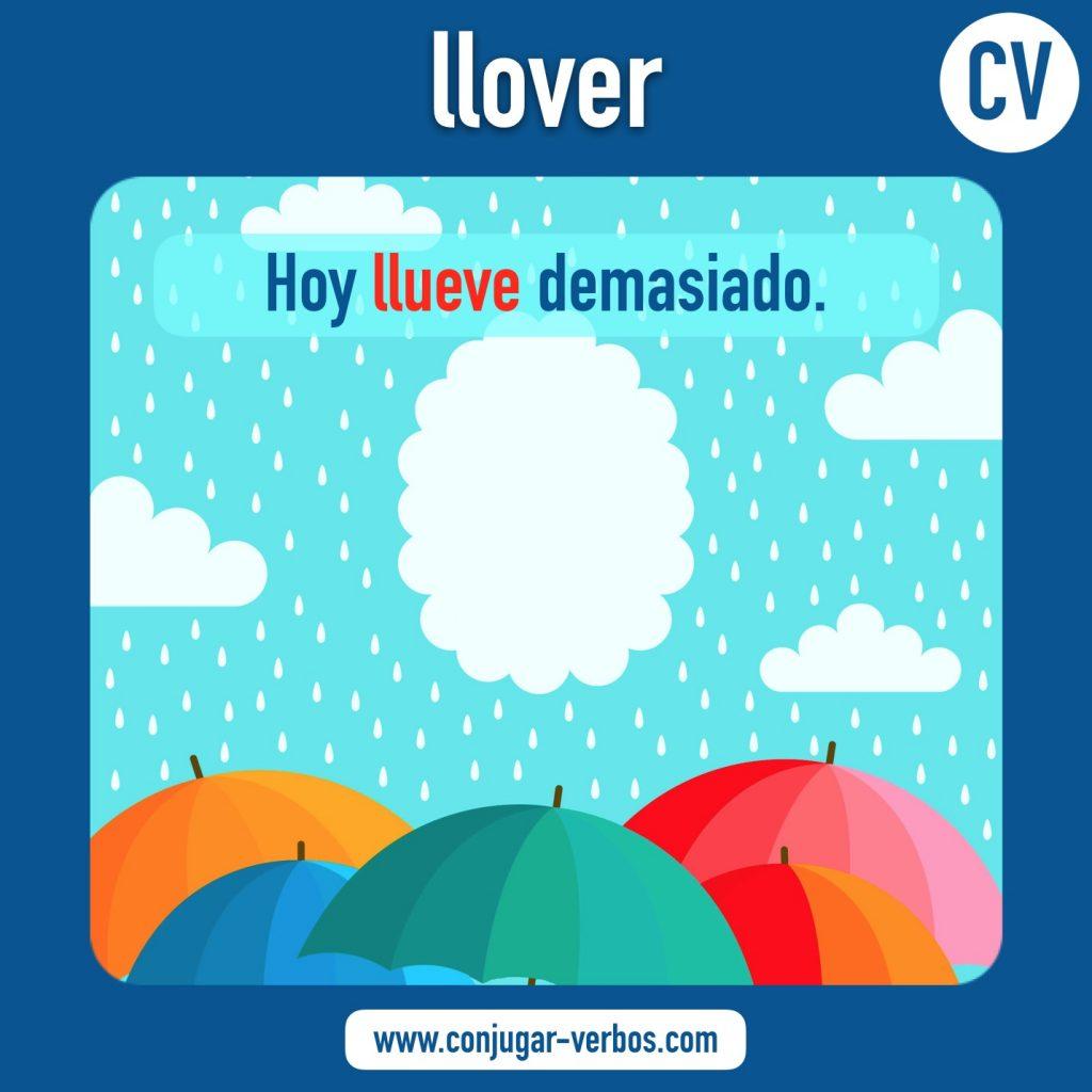 verbo llover | llover | imagen del verbo llover | conjugacion del verbo llover