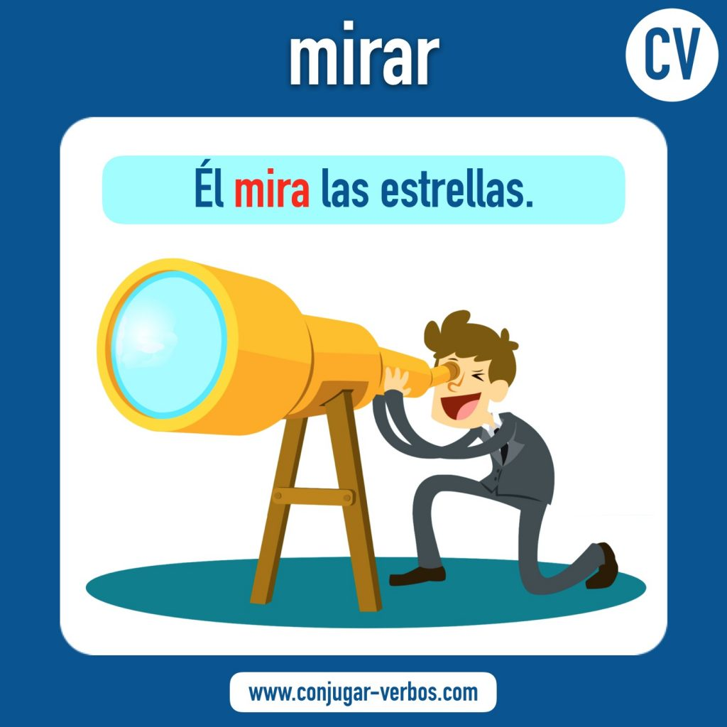 verbo mirar | mirar | imagen del verbo mirar | conjugacion del verbo mirar