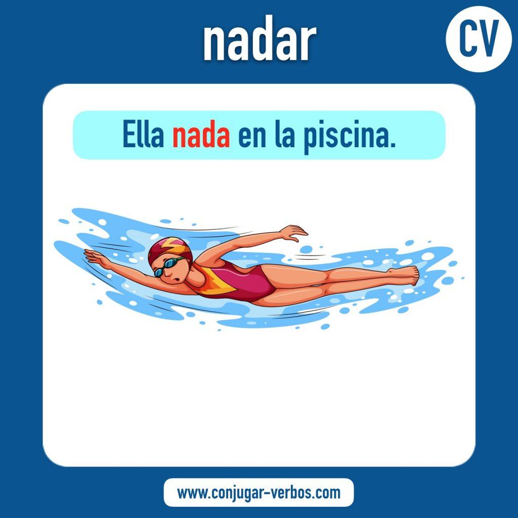 verbo nadar | nadar | imagen del verbo nadar | conjugacion del verbo nadar