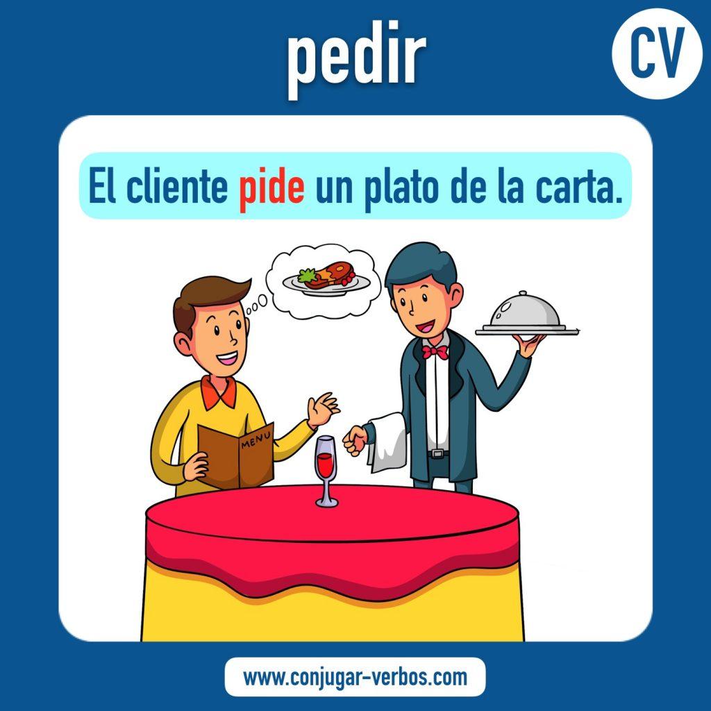 verbo pedir | pedir | imagen del verbo pedir | conjugacion del verbo pedir