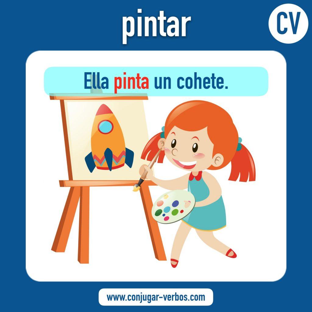 verbo pintar | pintar | imagen del verbo pintar | conjugacion del verbo pintar