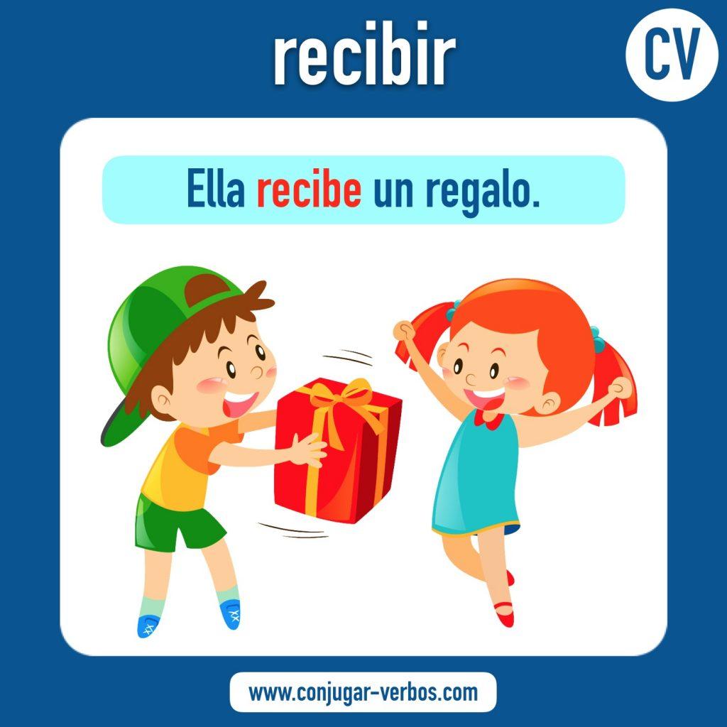 verbo recibir | recibir | imagen del verbo recibir | conjugacion del verbo recibir