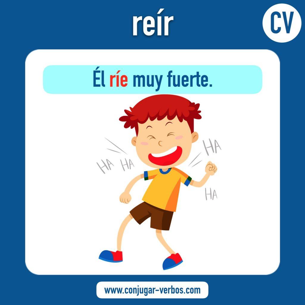 verbo reir   reir   imagen del verbo reir   conjugacion del verbo reir