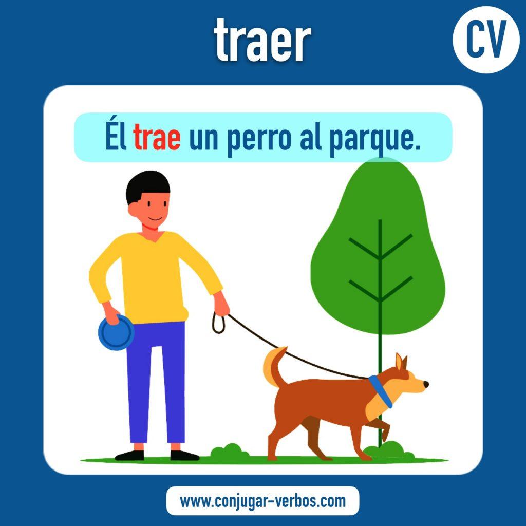 verbo traer | traer | imagen del verbo traer | conjugacion del verbo traer