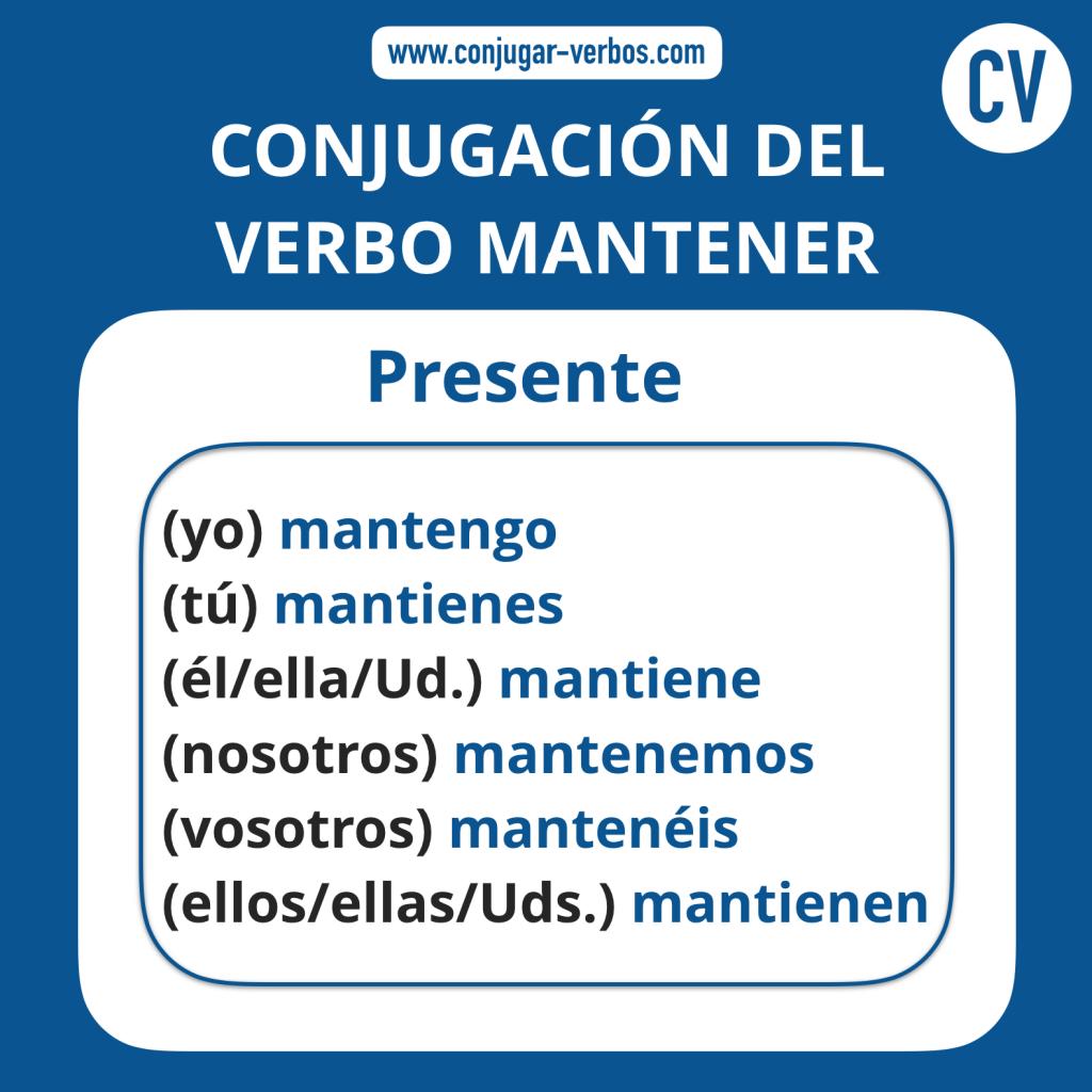 Conjugacion del verbo mantener | Conjugacion mantener