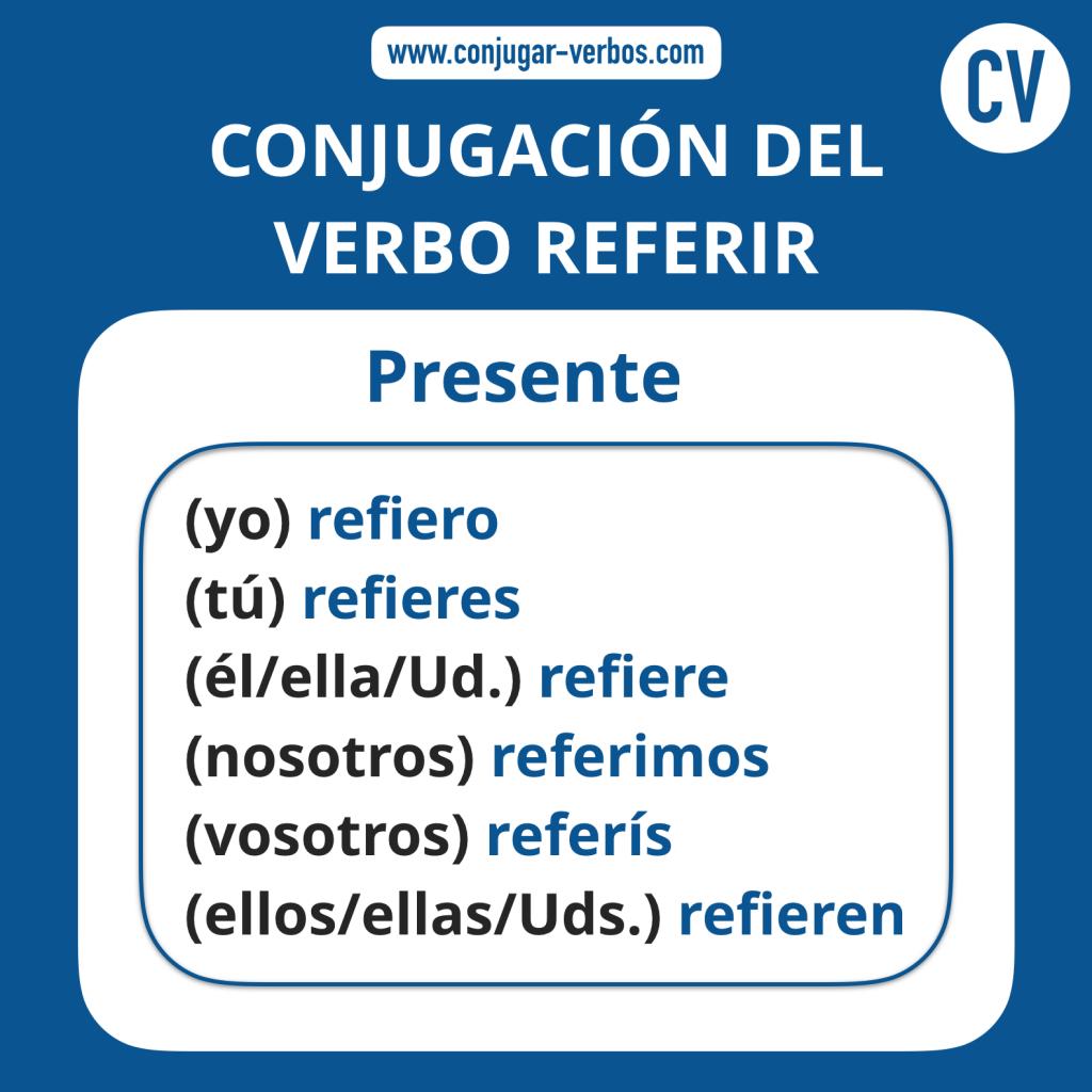 Conjugacion del verbo referir | Conjugacion referir