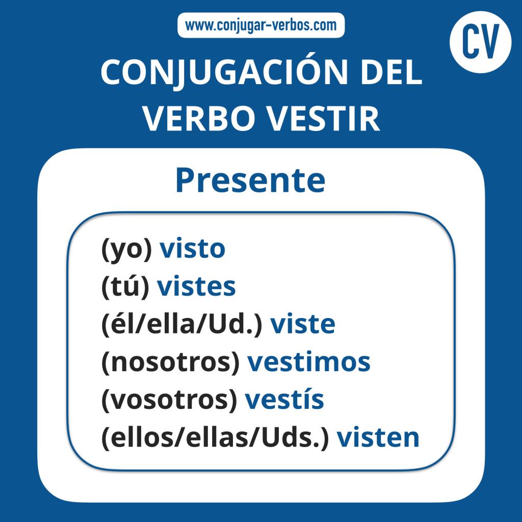 Vestir Conjugación Del Verbo Vestir Conjugar Verboscom